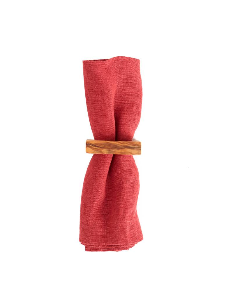 Be Home Olive Wood Napkin Rings Set of 4