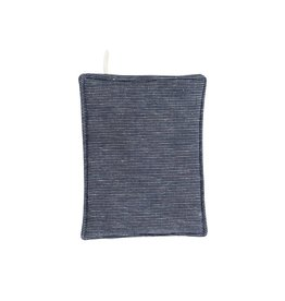 Beautiful Ingredient Pot Holder-Marcelle-Navy Blue/Heathered Gray
