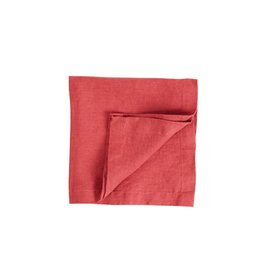 Not Perfect Linen Rasberry Red Linen Napkins