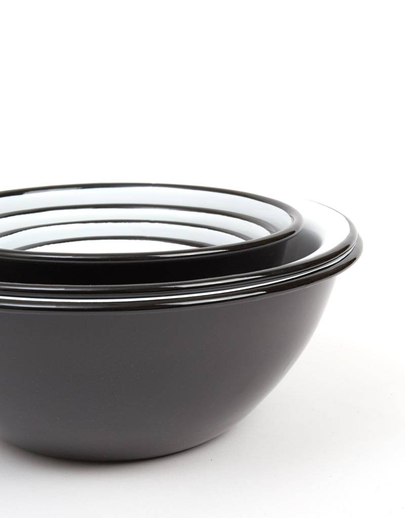 Falcon Enamelware Prep Bowl Set-Coal Black
