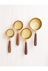 Be Home Measuring Cups, Walnut & Gold