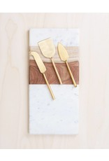 Be Home Matte Gold Cheese Knife Set