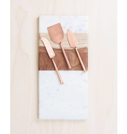 Be Home Matte Copper Cheese Knife Set
