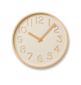 Lemnos Thomson Paper Clock- Beige