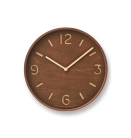 Lemnos Thomson Paper Clock- Brazillian Wood