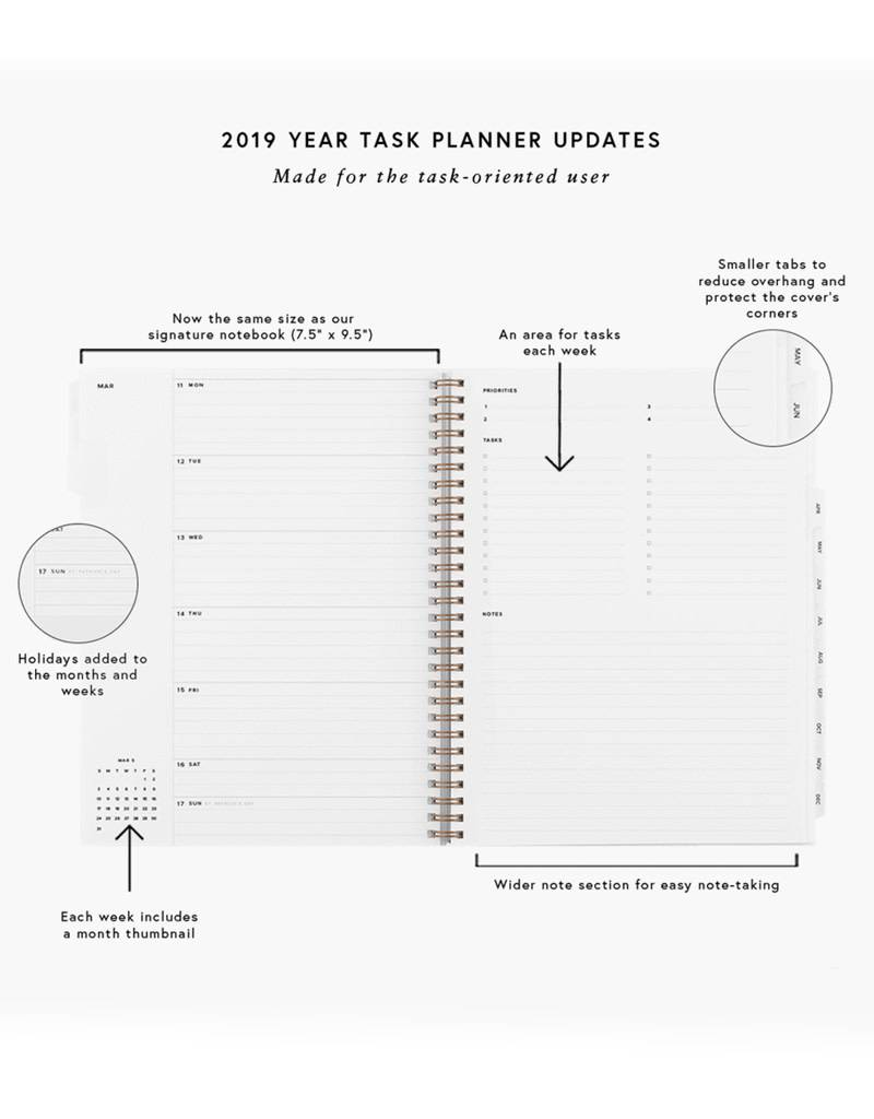 Appointed 2019 Task Planner- Dove Gray
