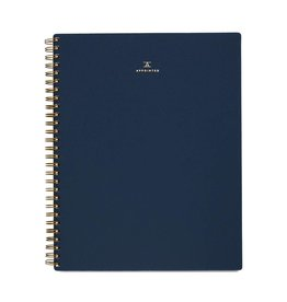 Appointed Notebook- Oxford Blue, Grid