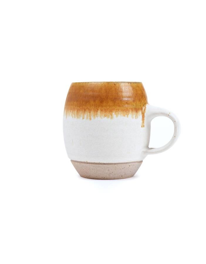 Veak Ceramics Ceramic Mug with Rust Stripe