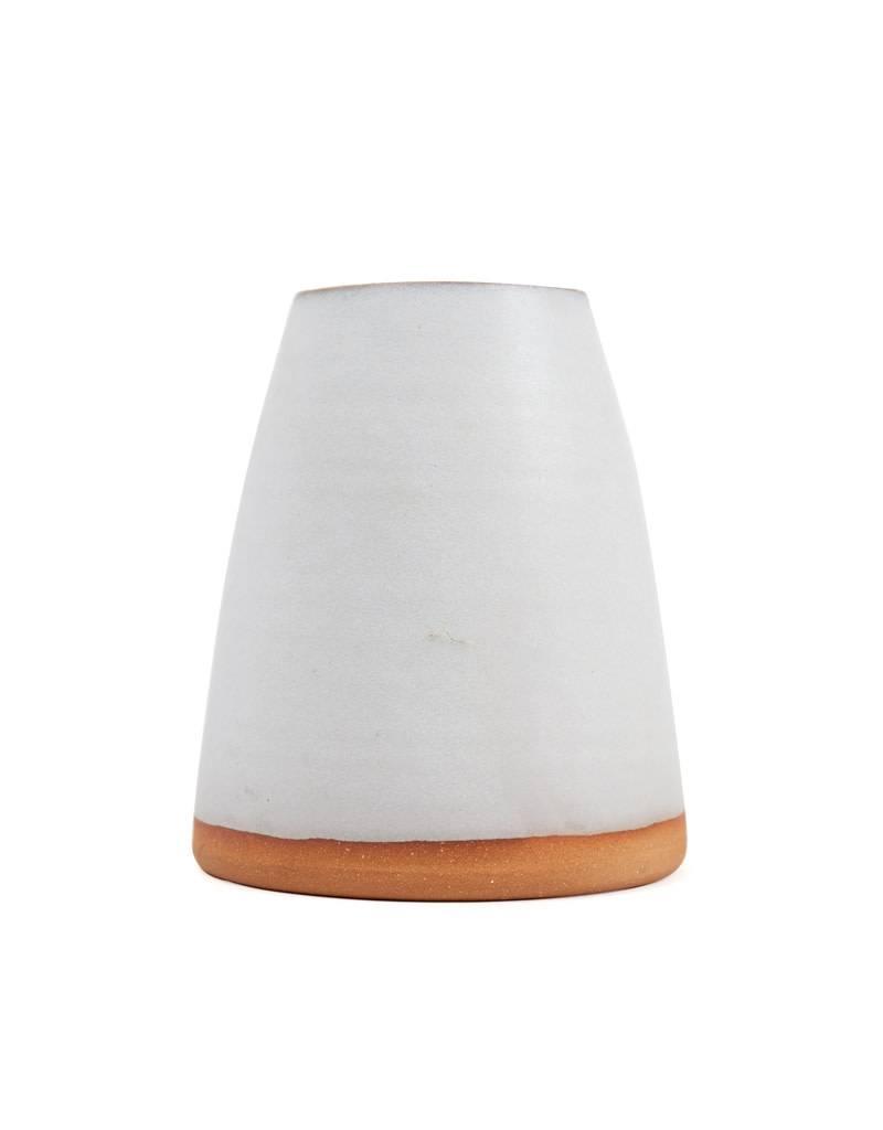 "Shelter Collection White & Natural Vase, Large 6"""