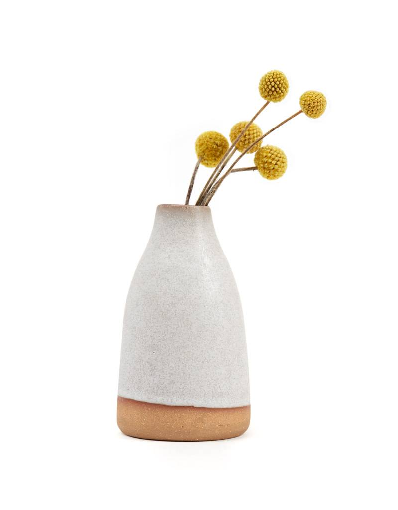 Shelter Collection White & Natural Bud Vase, Tall