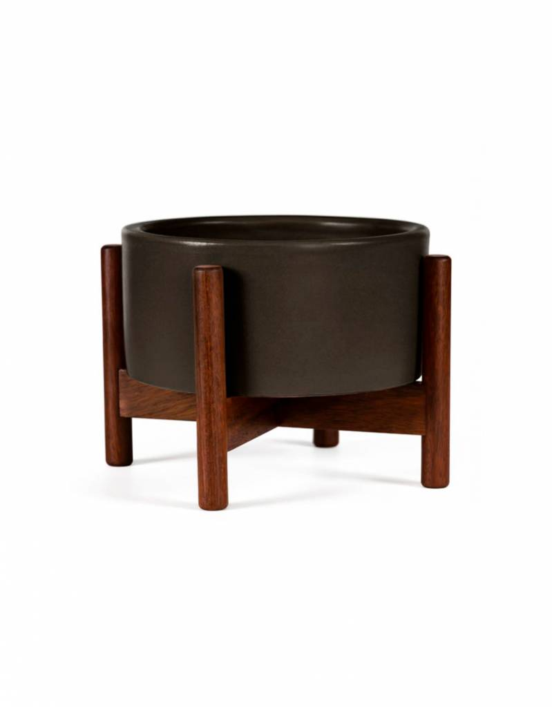 Modernica Charcoal Desk Top Planter w/Wood Stand