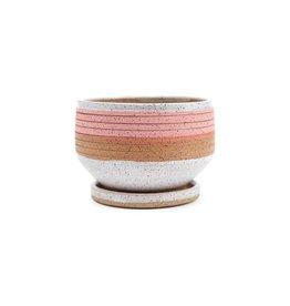 Veak Ceramics Pink Planter with Tray, Medium