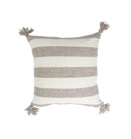 "Territory Design Gray Ancho Wool Pillow 20"" x 20"""