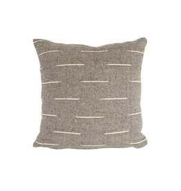 "Territory Design Gray Flecha Wool Pillow 20"" x 20"""