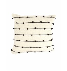 "Territory Design Black Loops Wool Pillow 20"" x 20"""