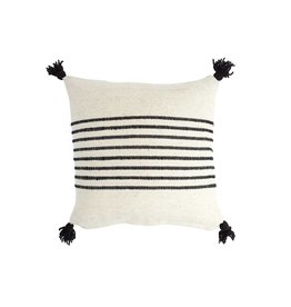 "Territory Design Black Delgado Wool Pillow 20"" x 20"""