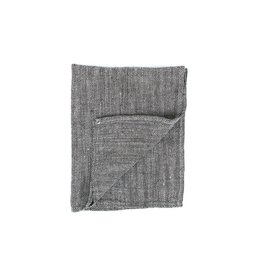Fog Linen Thick Linen Kitchen Towel- Herringbone