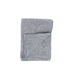 Fog Linen Linen Kitchen Towel-Black Herringbone