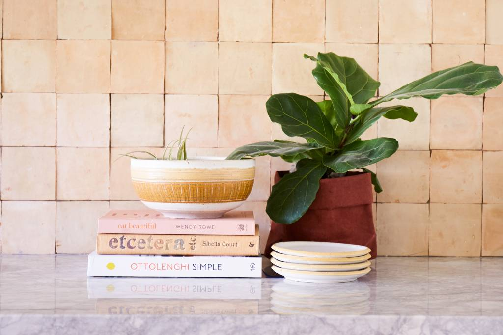 Veak Ceramics Ceramic Dessert Plate- Yellow