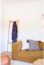 "Territory Design Cream Loops Wool Pillow 20""x20"""