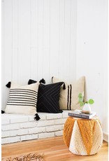 Shelter Collection White & Natural Bud Vase, Short