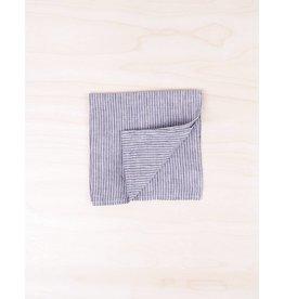 Fog Linen Linen Napkins Set/4- Grey White Stripe