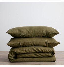 Cultiver Olive Linen Duvet Set
