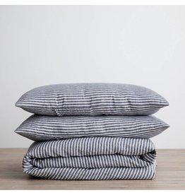 Cultiver Indigo Stripe Linen Duvet Set