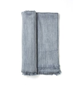 Pewter Sky Fringed Alpaca Throw