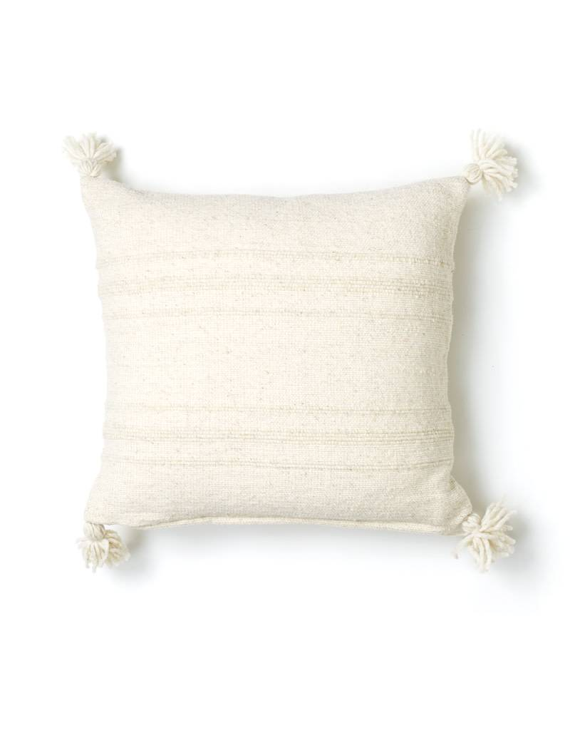 "Territory Design Cream Puro Wool Pillow 20"" x 20"""