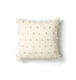 "Territory Design Cream Loops Wool Pillow 24"" x 24"""