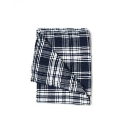 Fog Linen Linen Kitchen Towel-Clare Plaid