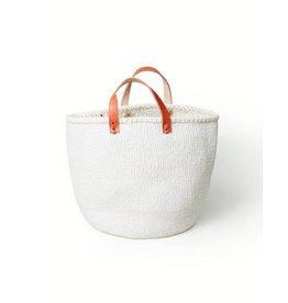 Mifuko Kiondo Basket White Medium