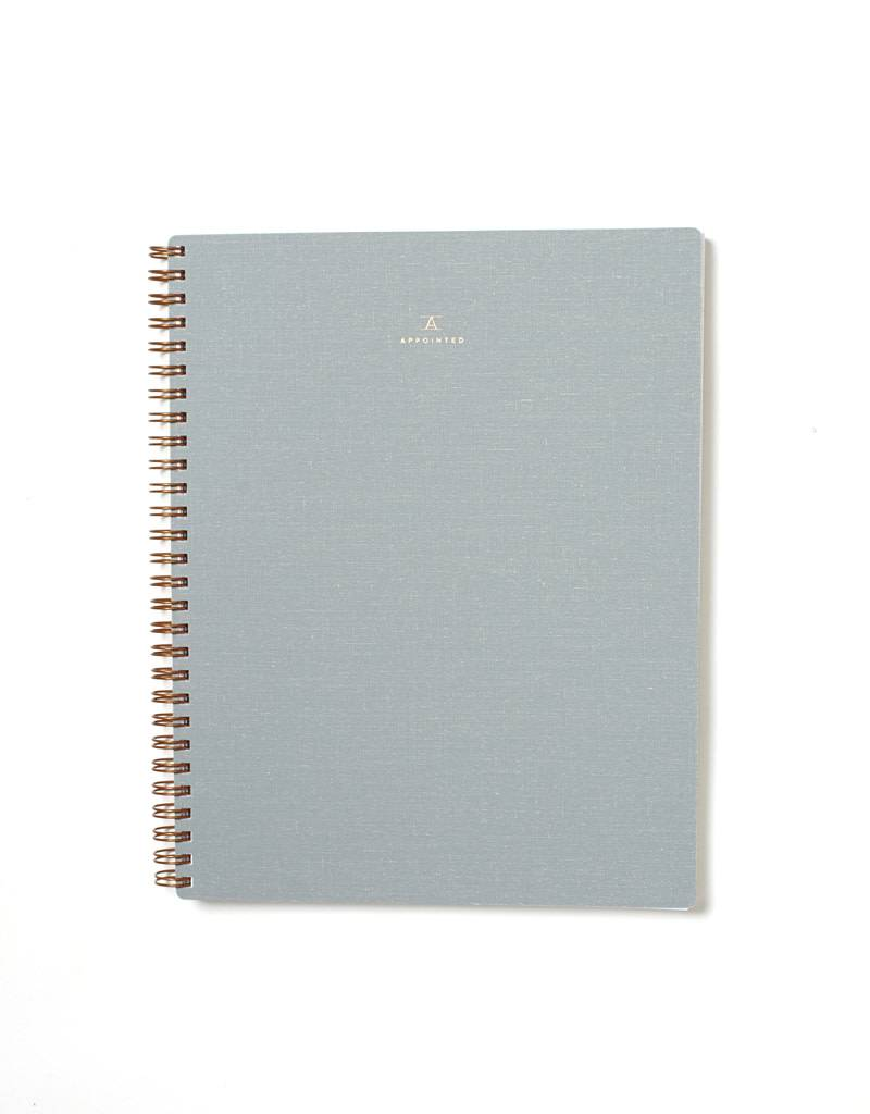 Appointed Notebook- Dove Gray, Grid