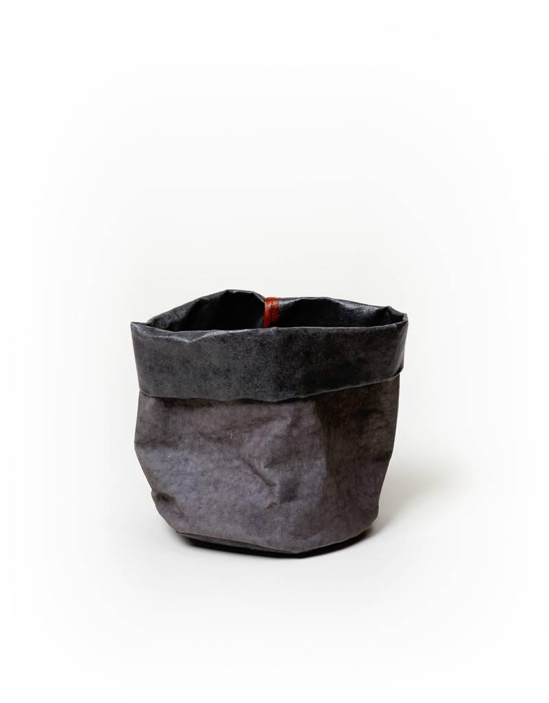 Uashmama Dark Gray Paper Bag Planter