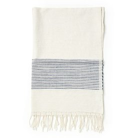 Creative Women Handwoven Hand Towels with Navy Ribs