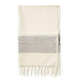 Creative Women Handwoven Hand Towels with Gray Ribs