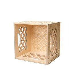WAAM Standard Wood Milk Crate