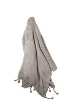 Zestt Gray Organic Cotton Knit Throw