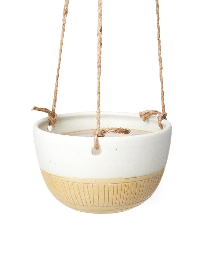 Veak Ceramics Ceramic Hanging Planter-Yellow
