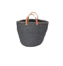 Mifuko Kiondo Basket Grey M Leather Strap