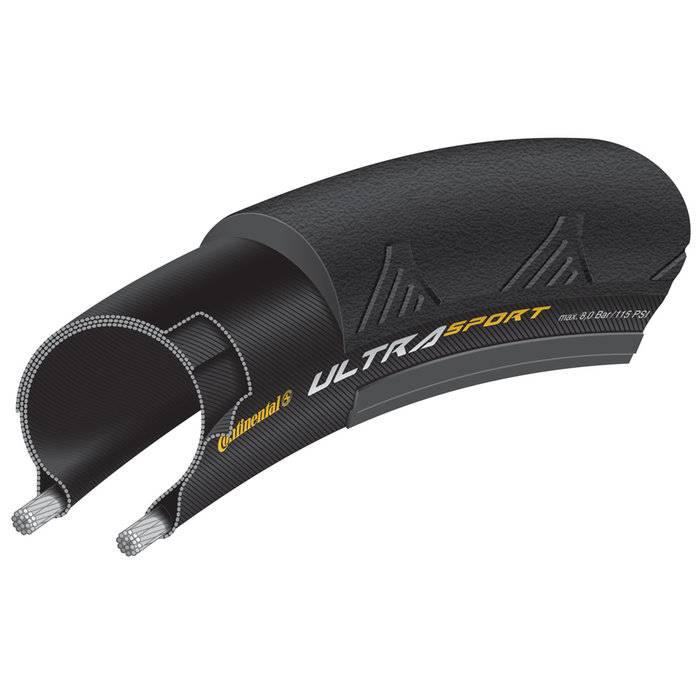 Continental Ultra Sport II 700 X 25 Fold Black-BW