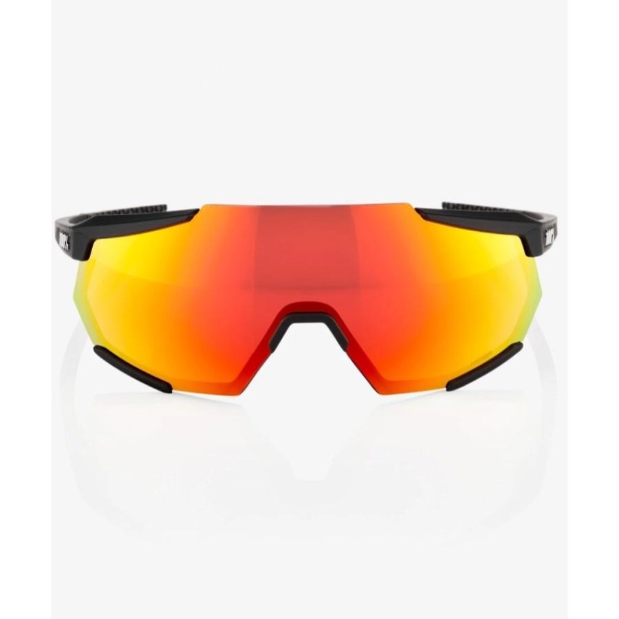 100 Percent 100 Percent Racetrap - Soft Tact Black -HiPER Red Multilayer Mirror Lens