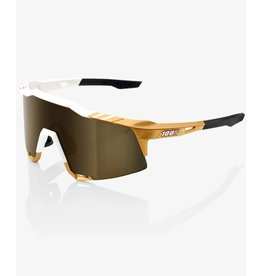 100 Percent 100% Speedcraft Peter Sagan Limited Edition White/Gold  Soft Gold Mirror Lens