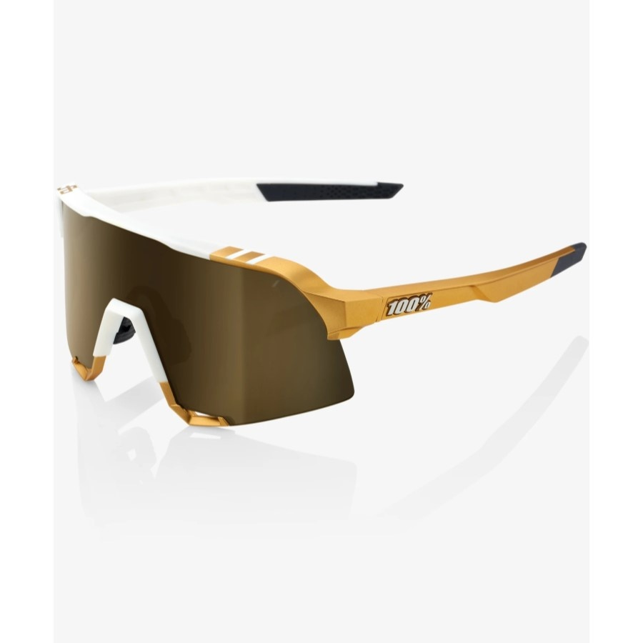 100 Percent 100% S3 Peter Sagan Limited Edition White/Gold Soft Gold Mirror Lens
