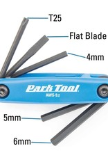Park Tool Park Tool Tl, AWS-9.2, Flding screwdriver/ hex wrench set, 4mm, 5mm, 6mm, Flat blade and T25