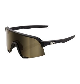 100 Percent 100% S3 Soft Tact Black-Soft Gold Lens