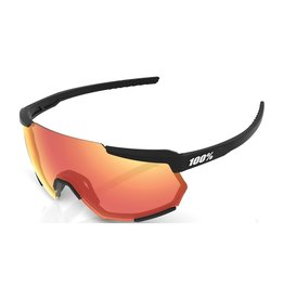 100 Percent 100 Percent Racetrap - Soft Tact Black -HiPER Blue Multilayer Mirror Lens