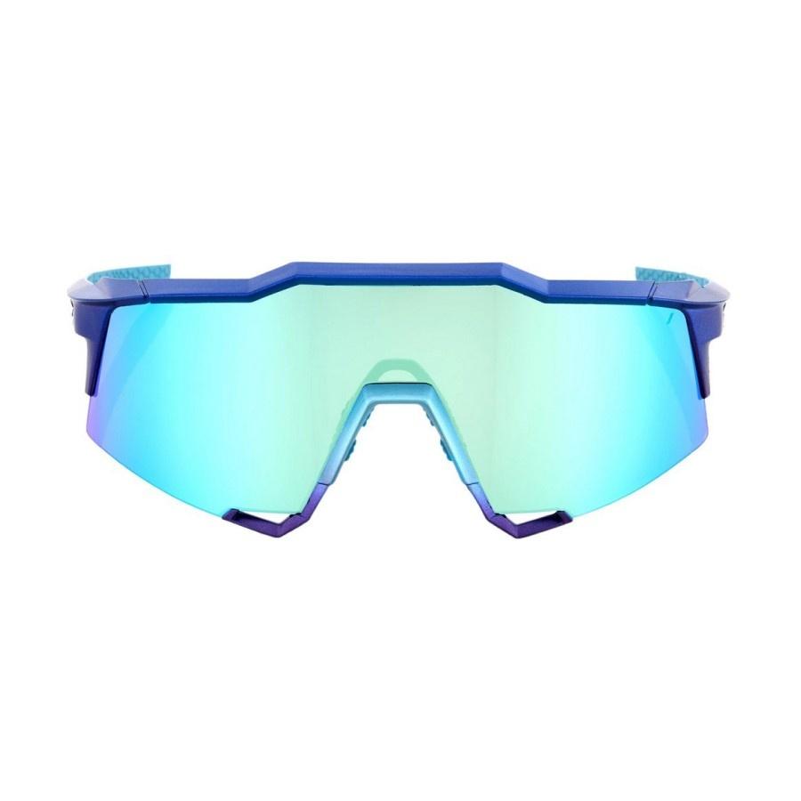 100 Percent 100% SP20 - HYPERCRAFT-Matte Metallic Into the Fade -Blue Topaz Multilayer Mirror Lens