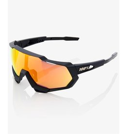 100 Percent 100 Percent Speedtrap - Soft Tact Black - HiPER Red Multilayer Mirror Lens